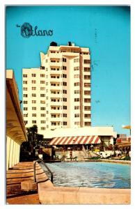 1968 The Delano Hotel and Cabana Club, Miami Beach, FL Postcard