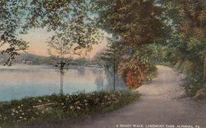 Scenic View, Shady Walkway, Lakemont Park, Altoona, Pennslyvania 1917