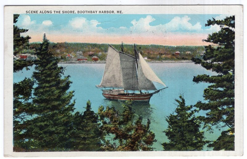Boothbay Harbor, Me, Scene Along The Shore