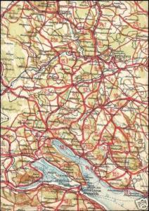 germany, KONSTANZ, Baden-Württemberg, MAP postcard 40s