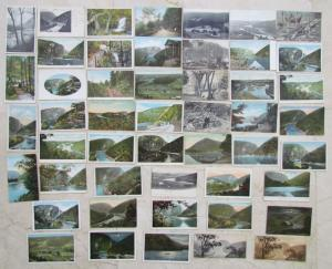 DELAWARE WATER GAP PA LOT OF 49 ANTIQUE POSTCARDS