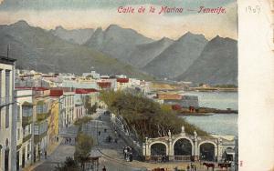 Spain Calle de la Marina Tenerife Panorama Postcard