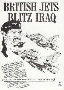 British Jets Blitz Iruq Saddam Hussain Gulf War Postcard