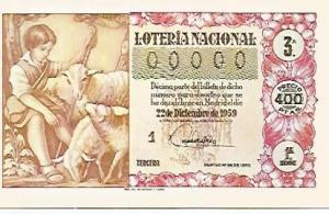 POSTAL 53199: SERIE DECIMOS LOTERIA DE NAVIDAD