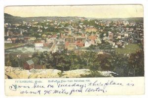 Bird's eye view from Rolistone Hill,Fitchburg,Massachusetts,PU-1914