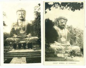 2 - RPPC - Buddha's at Kamakura