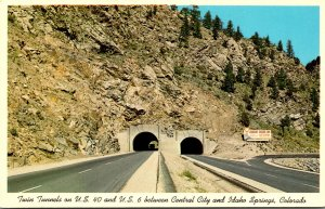 Colorado Twin Tunnels On U S 40 and U S 6 Between Central City and Idaho Springs