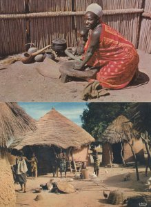 Swaziland Swazi Housewife African Rustic Life 2x Postcard s