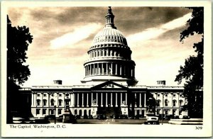 Washington, DC RPPC Real Photo Postcard United States Capitol Building c1940s