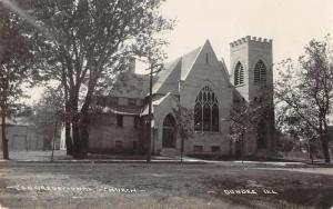 Dundee Illinois Congregational Church Real Photo Antique Postcard J64307