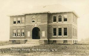 NH - North Haverhill. School House - RPPC  (Photographer- Hardy)