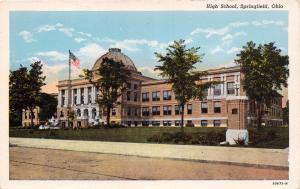 SPRINGFIELD OHIO SOUTH HIGH SCHOOL~FREED NEWS COMPANY POSTCARD 1920s