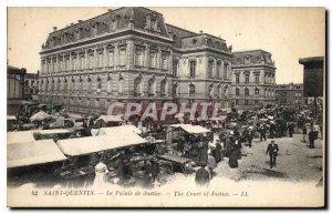 Old Postcard Saint Quentin Le Marche Courthouse