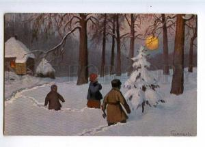 224050 RUSSIA Germashev Before Christmas Lenz #53 old postcard