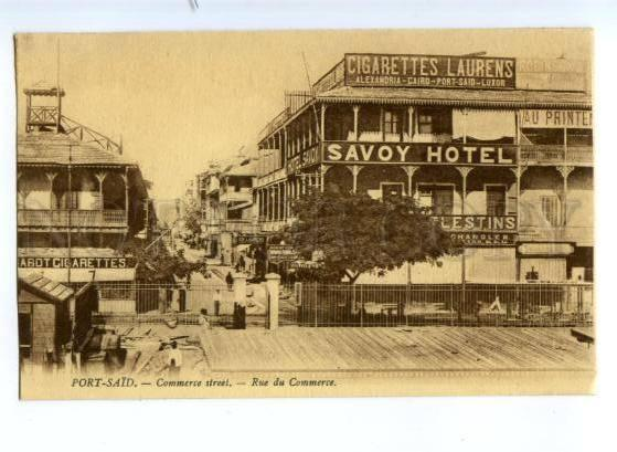 173730 EGYPT PORT-SAID SAVOY Hotel Cigarettes Vintage postcard