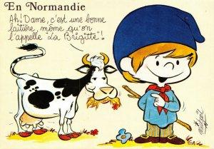 France Art Postcard, En Normandie, In Normandy GN0