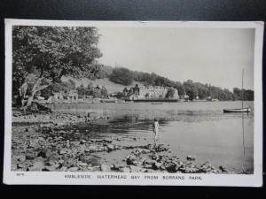 Cumbria: Ambleside Waterhead Bay from Borrans Park - Old RP Postcard