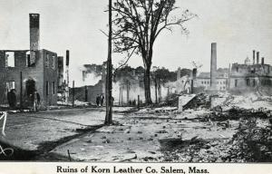 MA - Salem, 1914. Ruins of Korn Leather Co from great fire