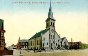 MA - New Bedford. Sacred Heart Church, Convent and School