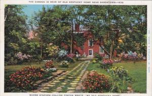 Kentucky Bardstown Federal Hill My Old Kentucky Home The Garden