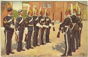 Tuck Oilette Relieving Guard 6th Dragoon Guards Rifles Headdress Sword Postcard