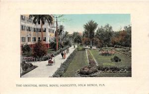C15/ Palm Beach Florida Fl Postcard c1910 Hotel Royal Poinciana Grounds 2