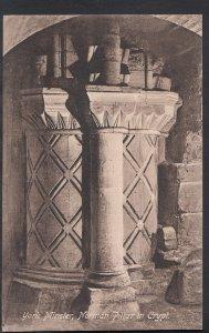 Yorkshire Postcard - York Minster, Norman Pillar in Crypt DC359
