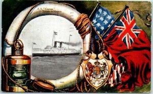 Vintage 1906 S.S. CAYUGA Steamship Postcard Toronto to Niagara Canada Cancel