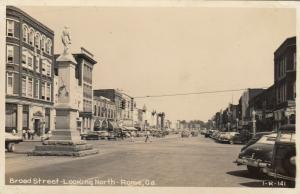 RP; ROME , Georgia , 1930-40s ; Broad Street-Looking North ; Version-2