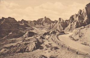 View Of Cedar Pass The Badlands Nat Monument South Dakota Albertype