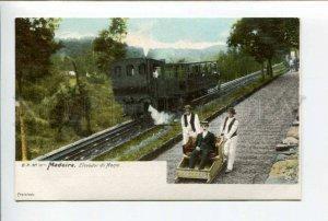 424422 PORTUGAL MADEIRA Mount Path Car Descent TRAIN Vintage postcard