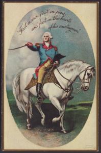 Washington on Horseback Reproduction Postcard
