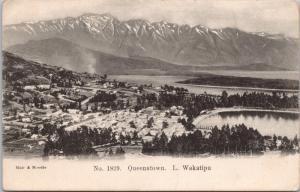 Queenstown NZ New Zealand Lake Wakatipu Muir & Moodie Postcard E33
