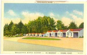 Millett's Auto Court, 101 Hwy, Coloma, California, CA, Linen