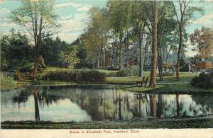 Hartford Connecticut~Pond & Trees in Elizabeth Park~Horse & Carriage on Path '10