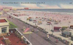 New Jersey Atlantic City General View Beach Boardwalk