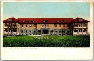 c1900s UNIVERSITY OF MICHIGAN Postcard Homeopathic Hospital Detroit Pub UNUSED