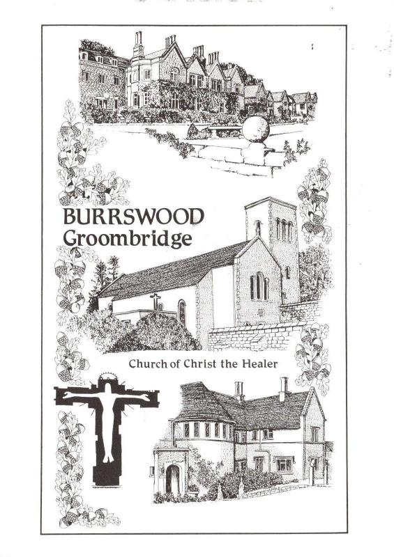 Postcard Art Sketch BURRSWOOD Groombridge, Kent #833