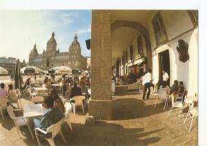 Postal 045889 : La Coruña. Terrazas en la plaza de Maria Pita
