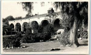 Mission San Juan Capistrano, California RPPC Real Photo Postcard c1910s Unused