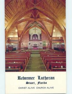 Unused Pre-1980 CHURCH SCENE Stuart Florida FL A7450