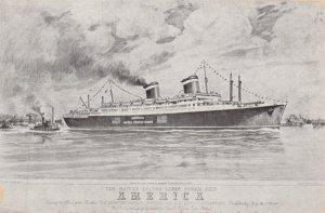 United States Line Ocean Liner AMERIKA , 40-60s
