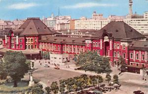 Japan Old Vintage Antique Post Card Tokyo Station Unused