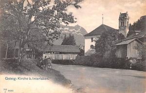 Switzerland Postcard Gsteig Kirche b Interlaken