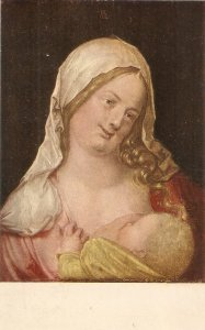 A. Durer. Maria with the Child at her breast Fine painting  Austrisn religious