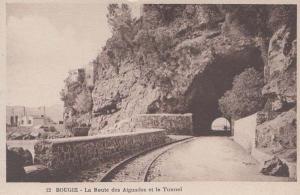 Tunnel Railway Bougie Aiguades Mediterranean Algeria Antique Algerian Postcard
