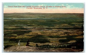 Postcard Grand View from Old Catskill Mountain House, NY C73