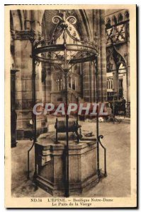 Old Postcard The Thorn The Basilica of Our Lady the Virgin Wells