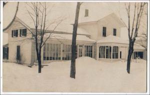 RPPC, House in the Snow, ? Oswego NY Area NY ?
