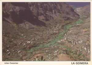 Postal 60965: Profundo barranco con cultivos (La Gomera)